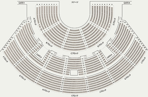 ディズニーオンクラシック 舞浜アンフィシアター座席表