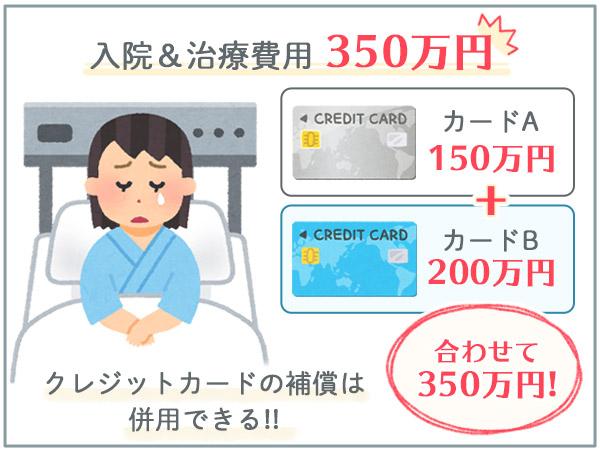 海外旅行保険ポイント③ カード保険の併用