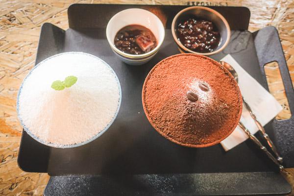 雪花ミルク氷&雪花コーヒー氷