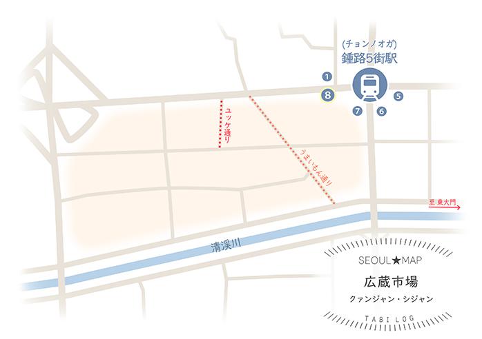 韓国マップ⑫ 広蔵市場