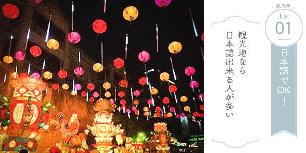 台湾観光地での 会話難易度 Lv.1