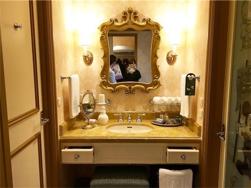 ミラコスタ洗面所