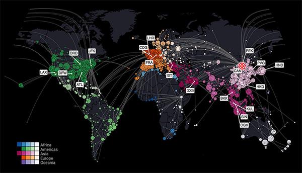 感染予想マップ