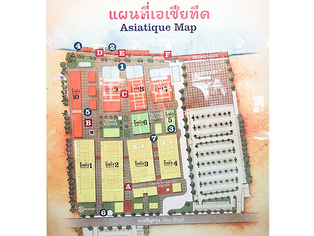 アジアティーク園内マップ
