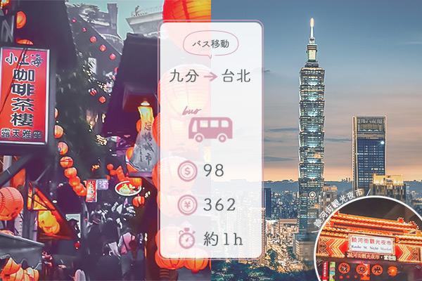 行き方④九分→台北 バスで1時間弱