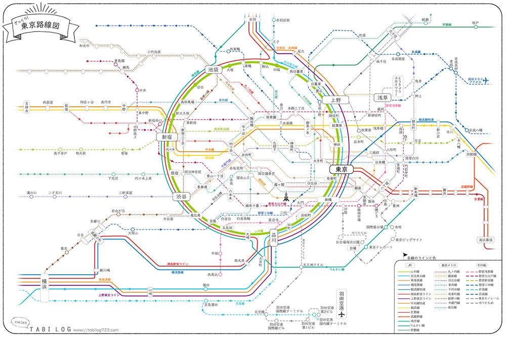 ダウンロードOK東京路線図