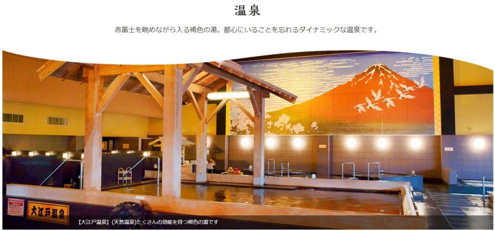 大江戸温泉物語 大浴場