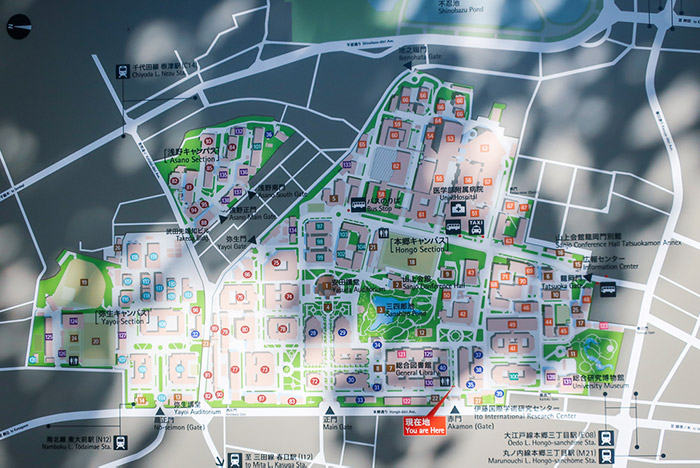 本郷キャンパスマップ