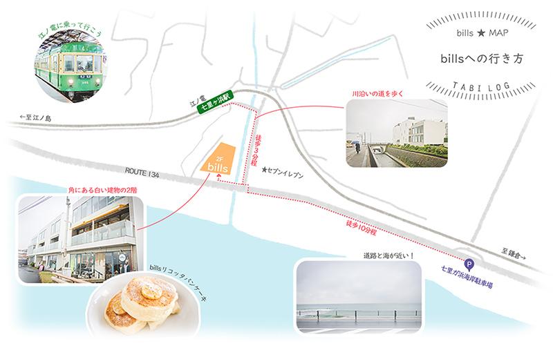 七里ガ浜ビルズアクセスマップ