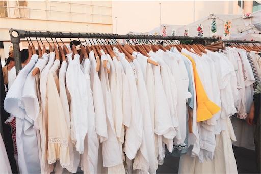 洋服はふわふわ系が多い