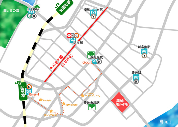 新橋汐留銀座周辺地図