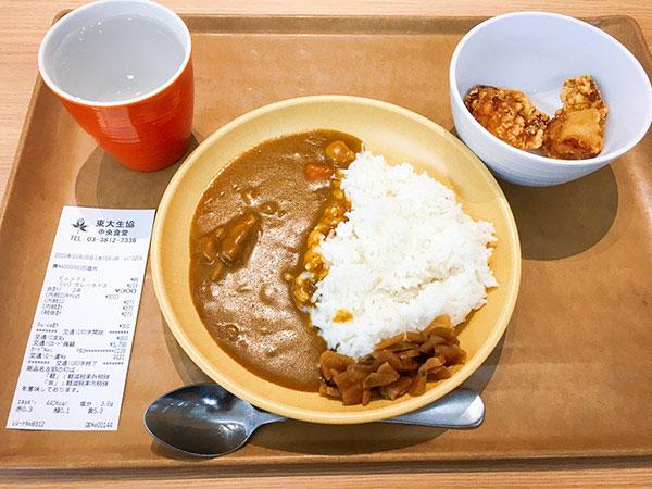 東大カレー(小) & から揚げ2個 ¥300