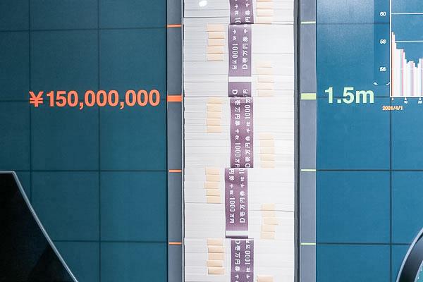一億円って何メートル?