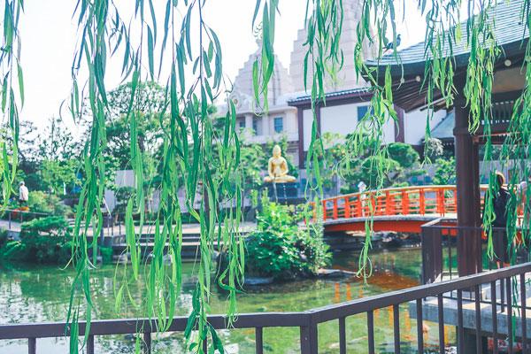 川崎大師の美しい小庭