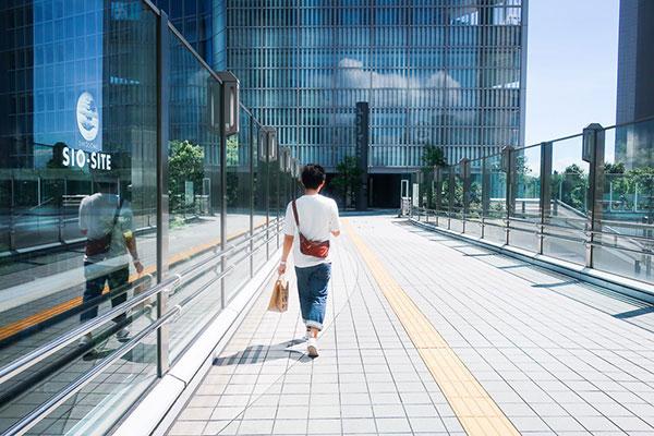 新橋から汐留までの遊歩道
