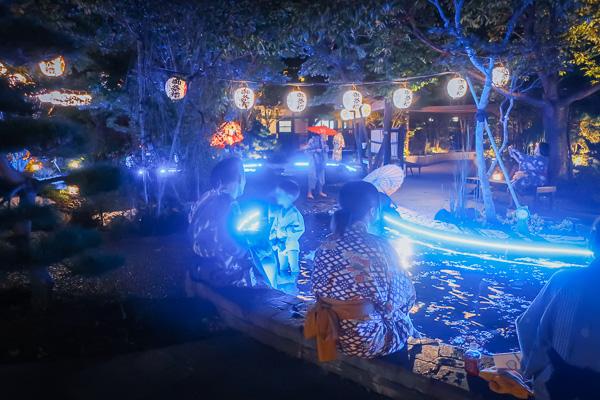 大江戸温泉物語夜の足湯