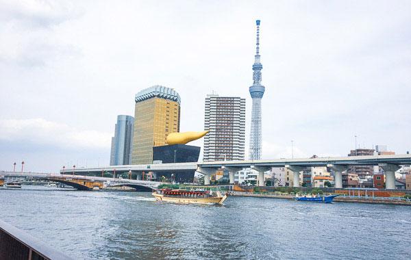隅田川の川べりを歩いて 浅草橋へ
