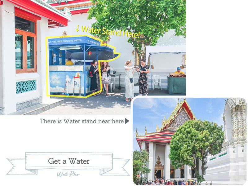 wat pho water stand