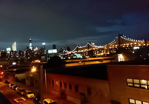 ホステルの屋上 マンハッタンが一望できた
