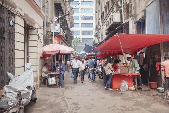 ムンバイ道端の屋台