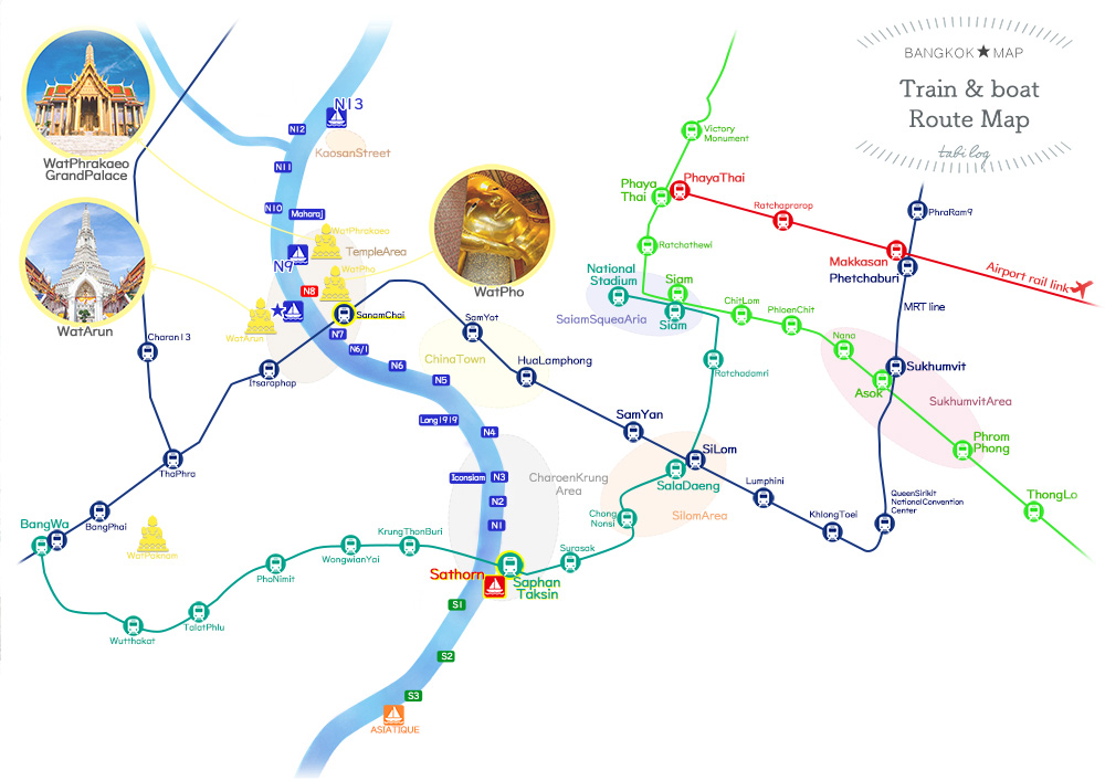 Bangkok Route Map