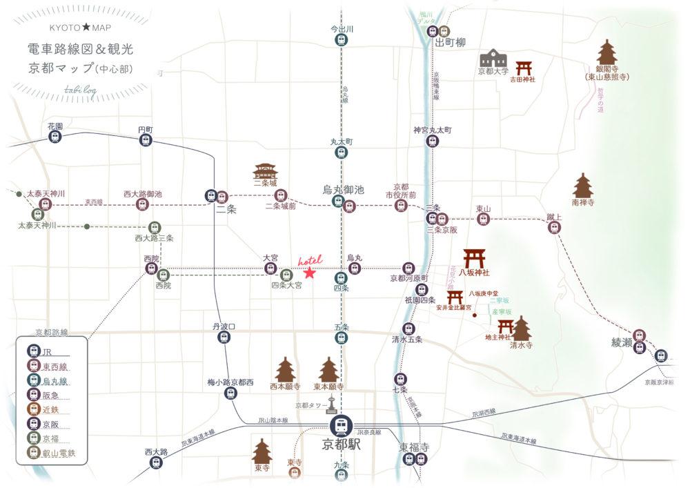 三井ガーデンホテル京都四条ホテルマップ