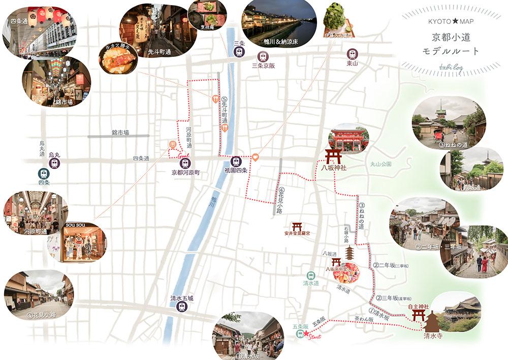 京都の小道 モデルルート