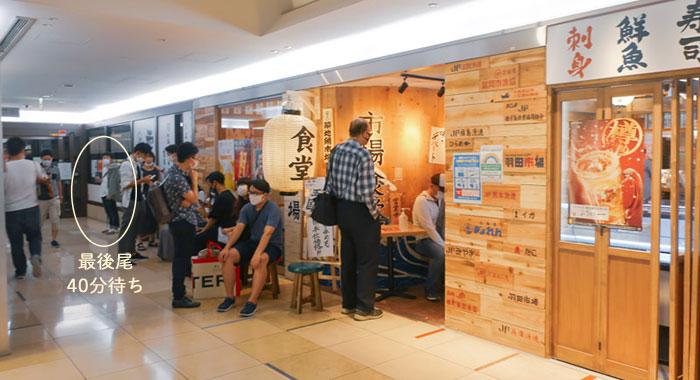 羽田市場の混雑状況