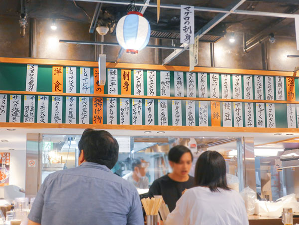 羽田市場東京駅店内様子2