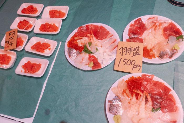 羽田市場海鮮盛りいくら