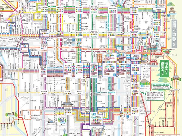 京都バス路線図 軽量版