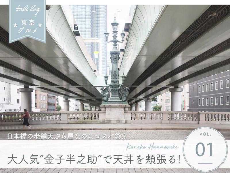 東京・日本橋にある老舗天丼屋 金子半之助