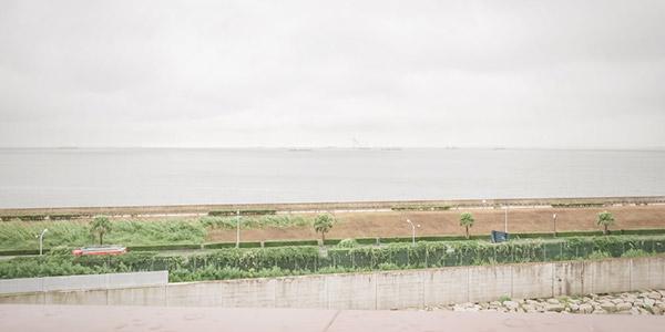 SSコロンビア号デッキからの眺め海側