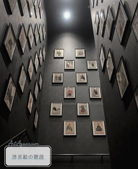 アートアクアリウム美術展展示浮世絵の階段