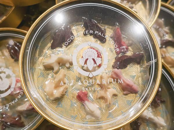 アートアクアリウム美術館食べ物スイーツ土産チョコ