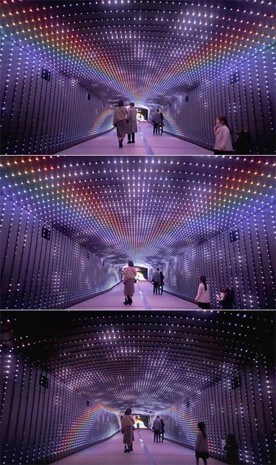 東京メガイルミ トーキョータイムトンネル