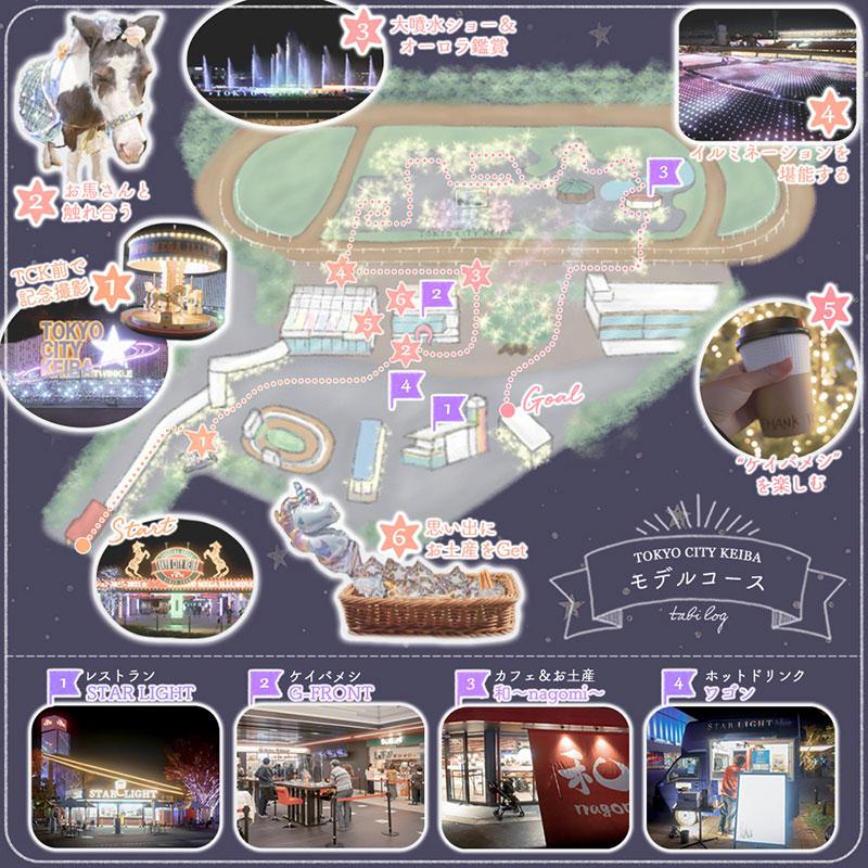 東京メガイルミマップ&モデルコース
