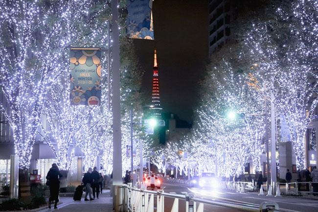 けやき坂イルミネーション東京タワー撮影ポイント