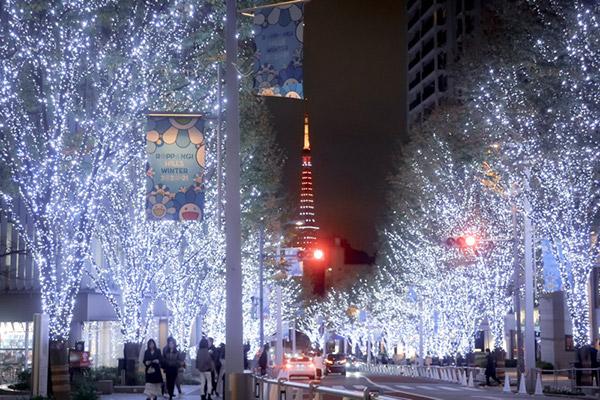 六本木乃木坂イルミネーションと東京タワー