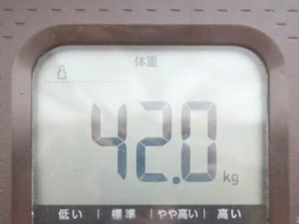 ダイエット成功42kg