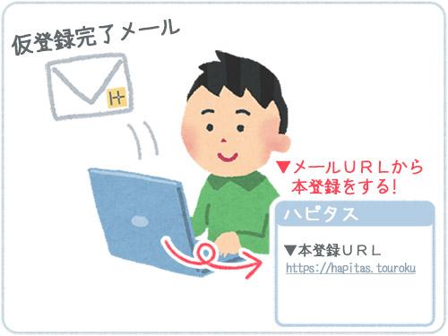ハピタス登録方法4メール本登録