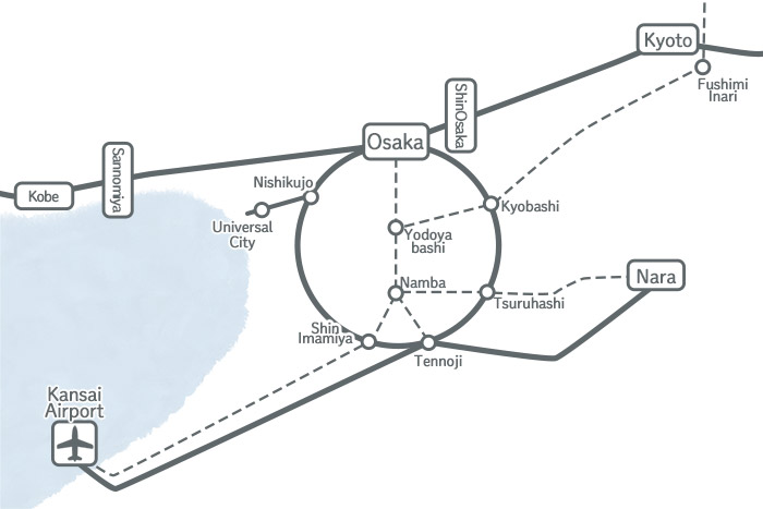 Kansai route map simplified version
