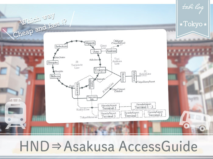 HanedaAirport→Asakusa Access Guide