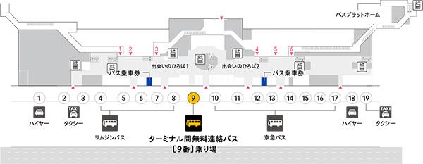 ディズニーリゾート行きバス乗り場2