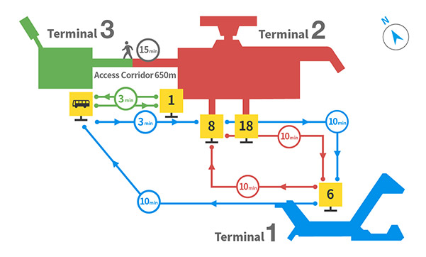 Narita Airport But Shuttle map