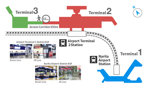 Narita Airport Station Map