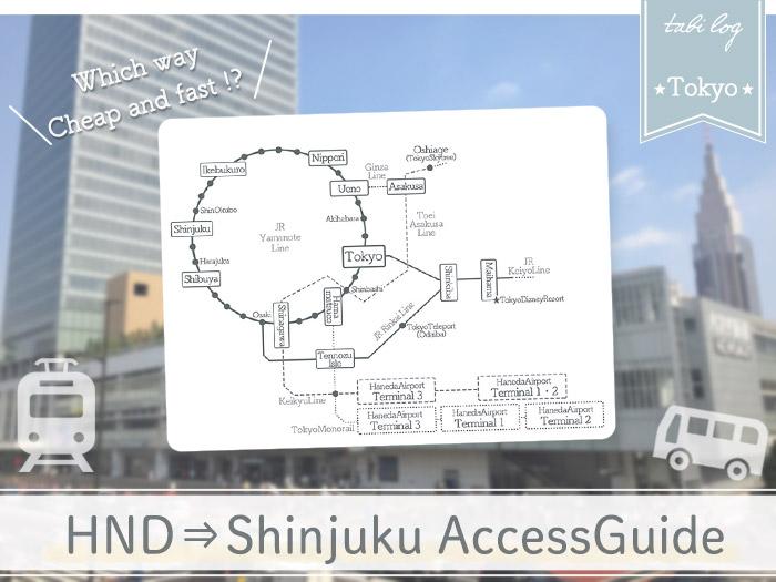 HanedaAirport→Shinjuku Access Guide