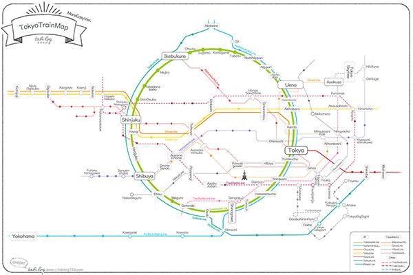 Tokyo Train Map More Easy Ver.