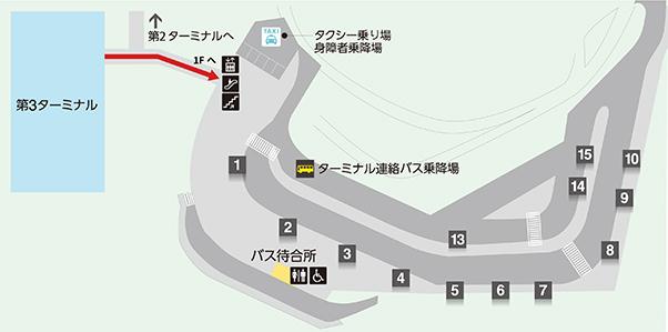 ディズニーリゾート行きバス乗り場3