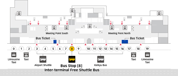 HanedaAirport Bus StopTerminal 1